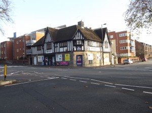 The Eagle pub after having being converted into a convenience store
