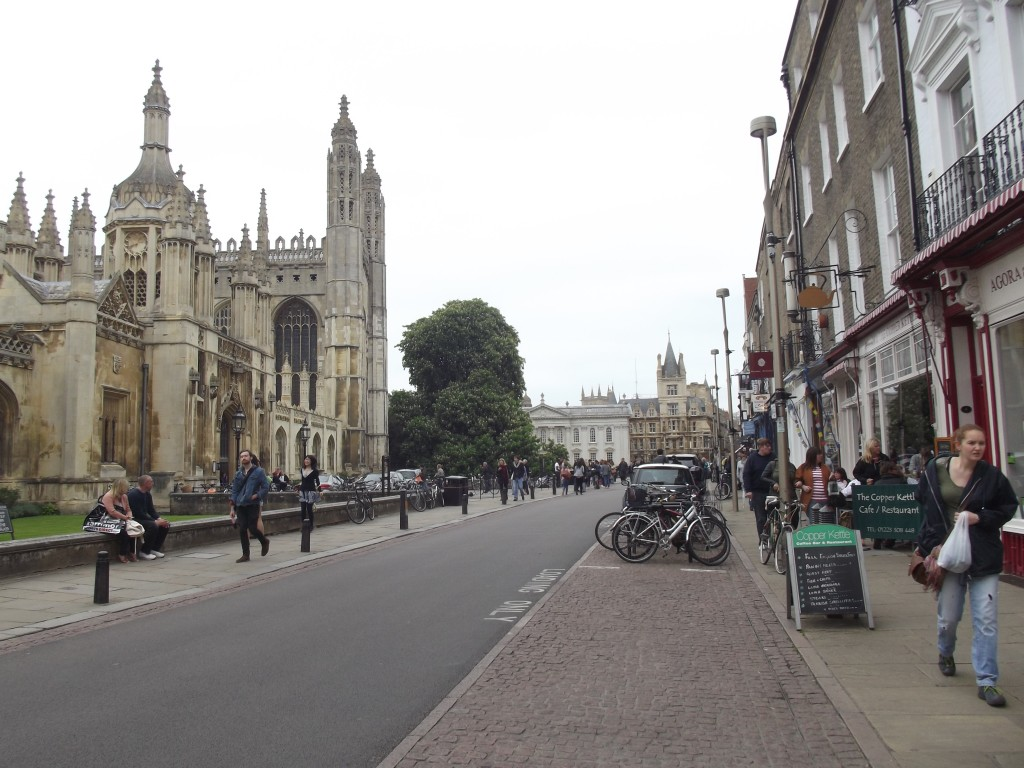 Cambridge, with King's College on the left