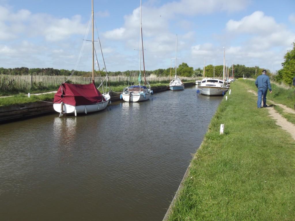 Boats at Horsey Mere