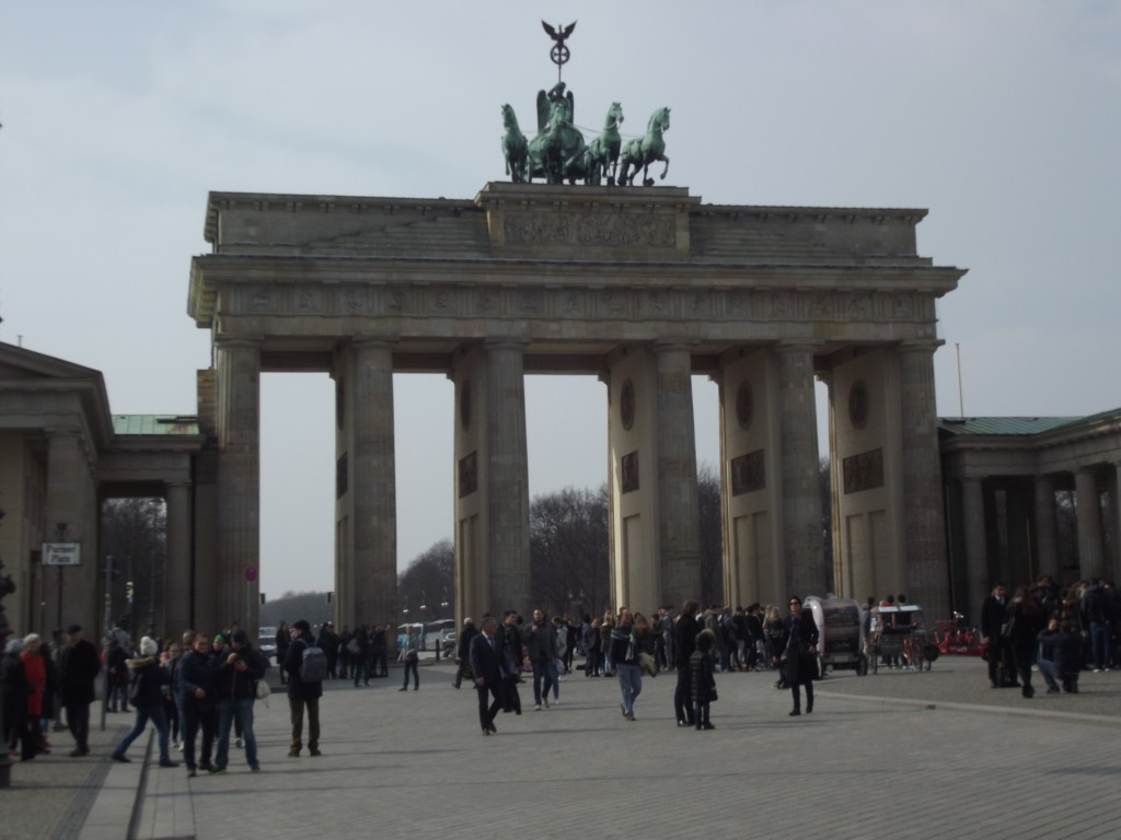 Brandenburg Gate, facing West.