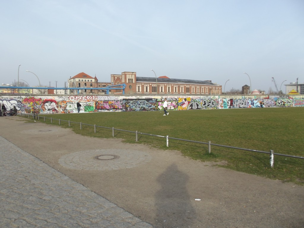 Berlin Wall, part of the East Side Gallery. This longest remaining section of the wall has been decorated as a work of art.