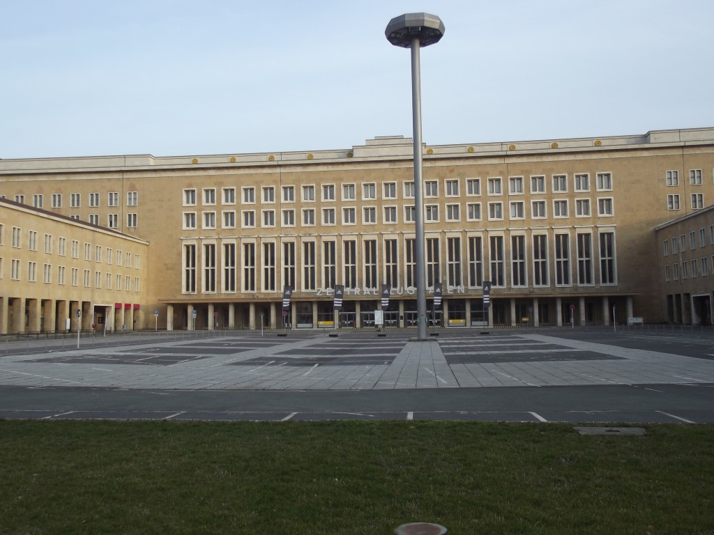 Tempelhof airport's main terminal entrance.