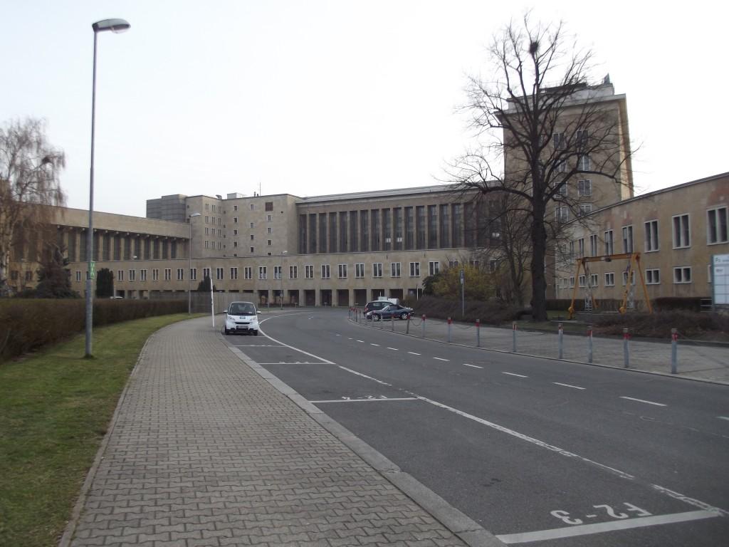 Tempelhof Airport's vast terminal building.