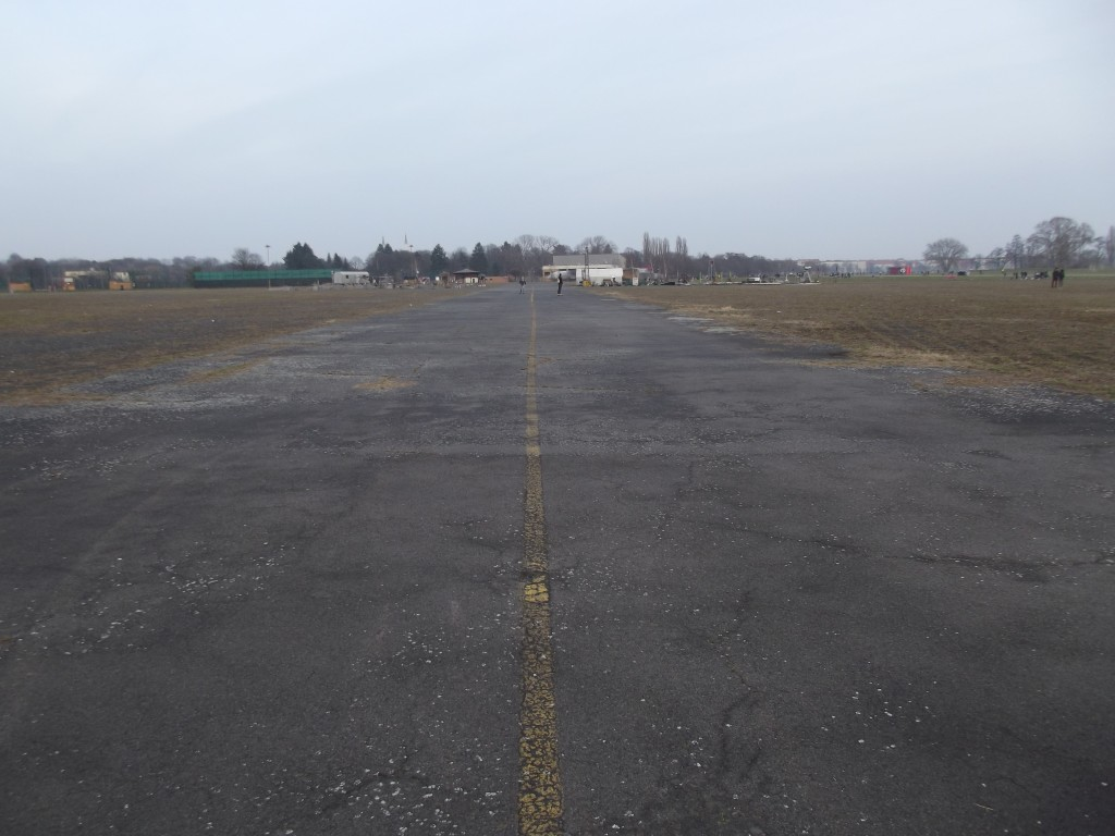 On the runway at the former Tempelhof airfield. Everything has been left in place as a massive open space for Berliners to enjoy.