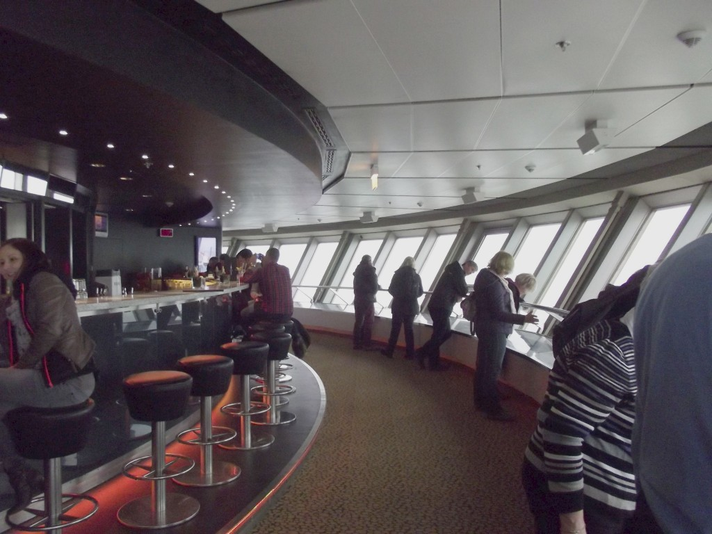 Viewing gallery in the Fernshenturm. There is a revolving restaurant on the floor above but it is by reservation only.