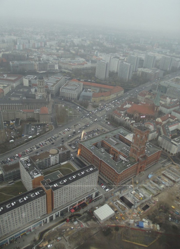View from the Fernsehenturm, facing south