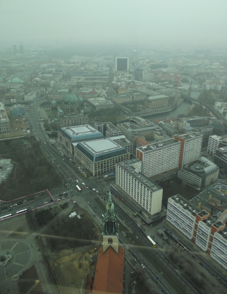 View from the Fernsehenturm, facing west