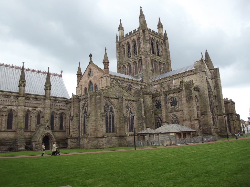 Hereford Cathedral (NOTE: this is cheating as I took this picture last year!)