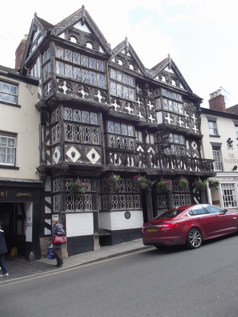 The famous Feathers Hotel, Ludlow – one of not many British pubs that have their own Wikipedia article!