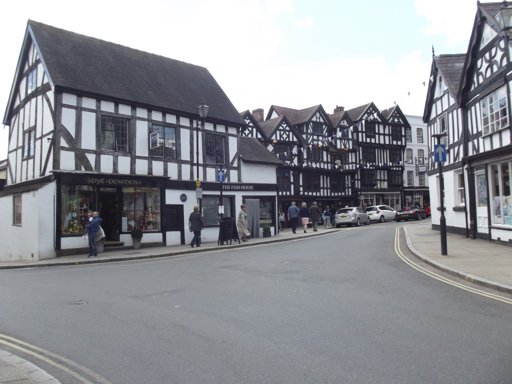 Ancient buildings in Ludlow.