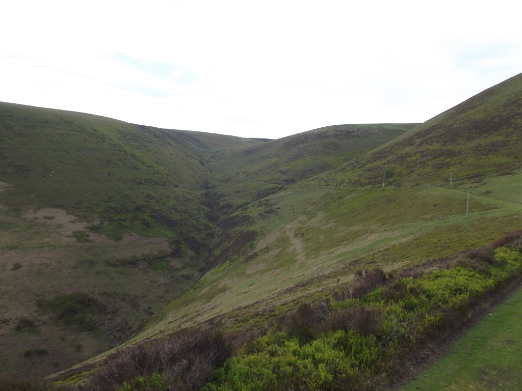 Part of a ravine near the summit of The Whimble. DFown below in the valley (and well out of sight) is the 'Danger Area'.