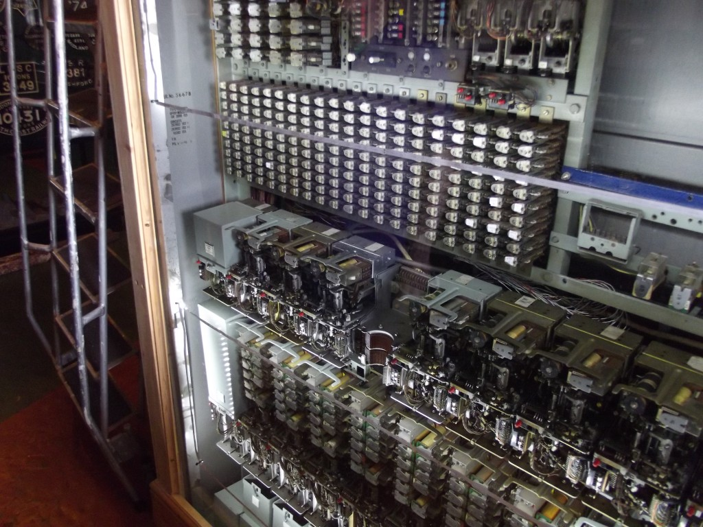An old telephone exchange at Kidderminster's railway museum