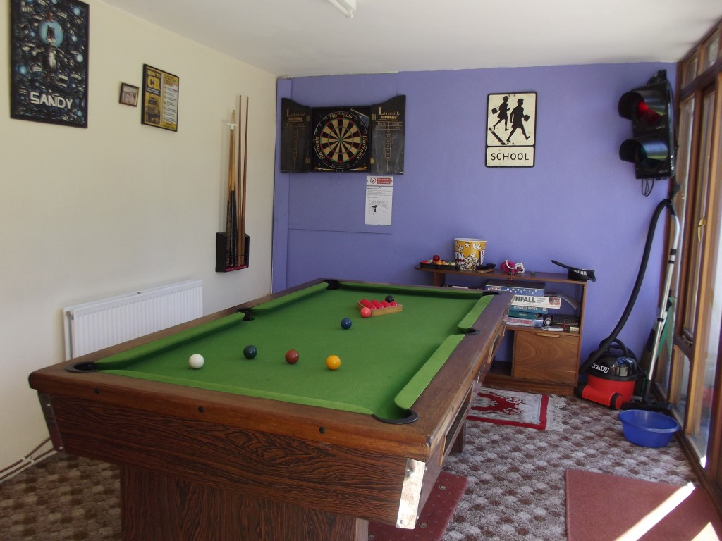 Games room at White House Cottage.
