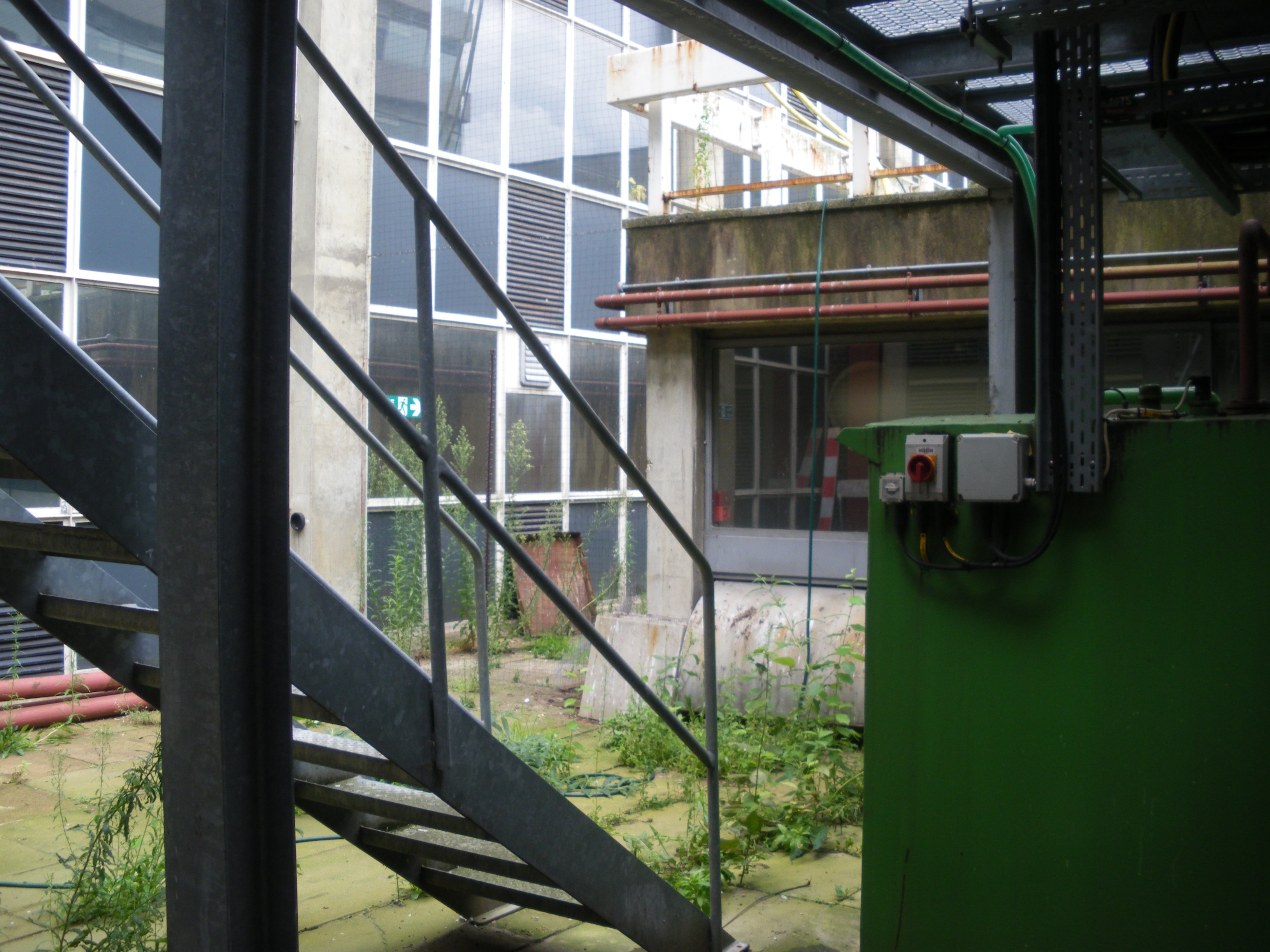 Underneath the CHP mezzanine platform