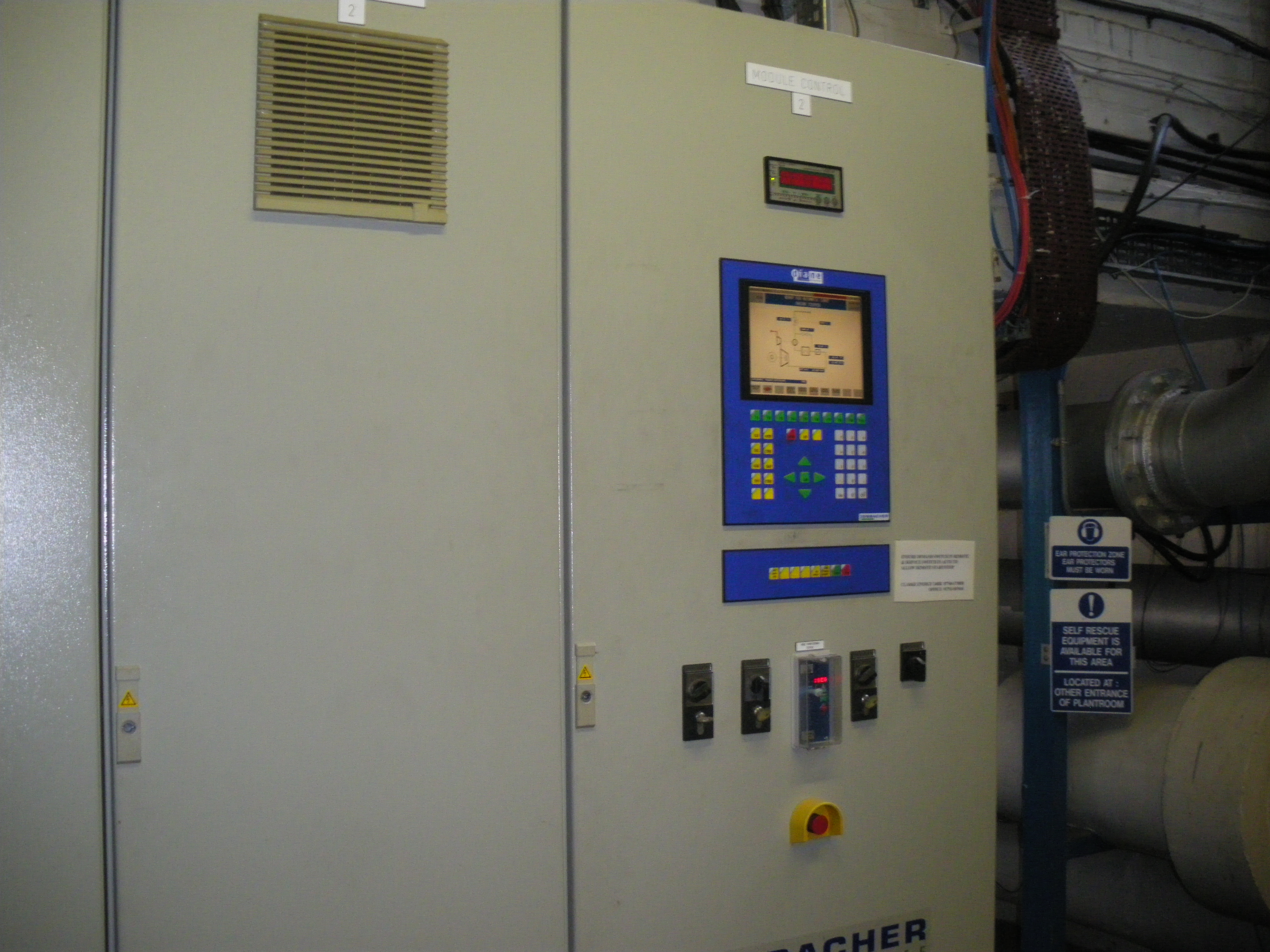 CHP no. 2 control panel