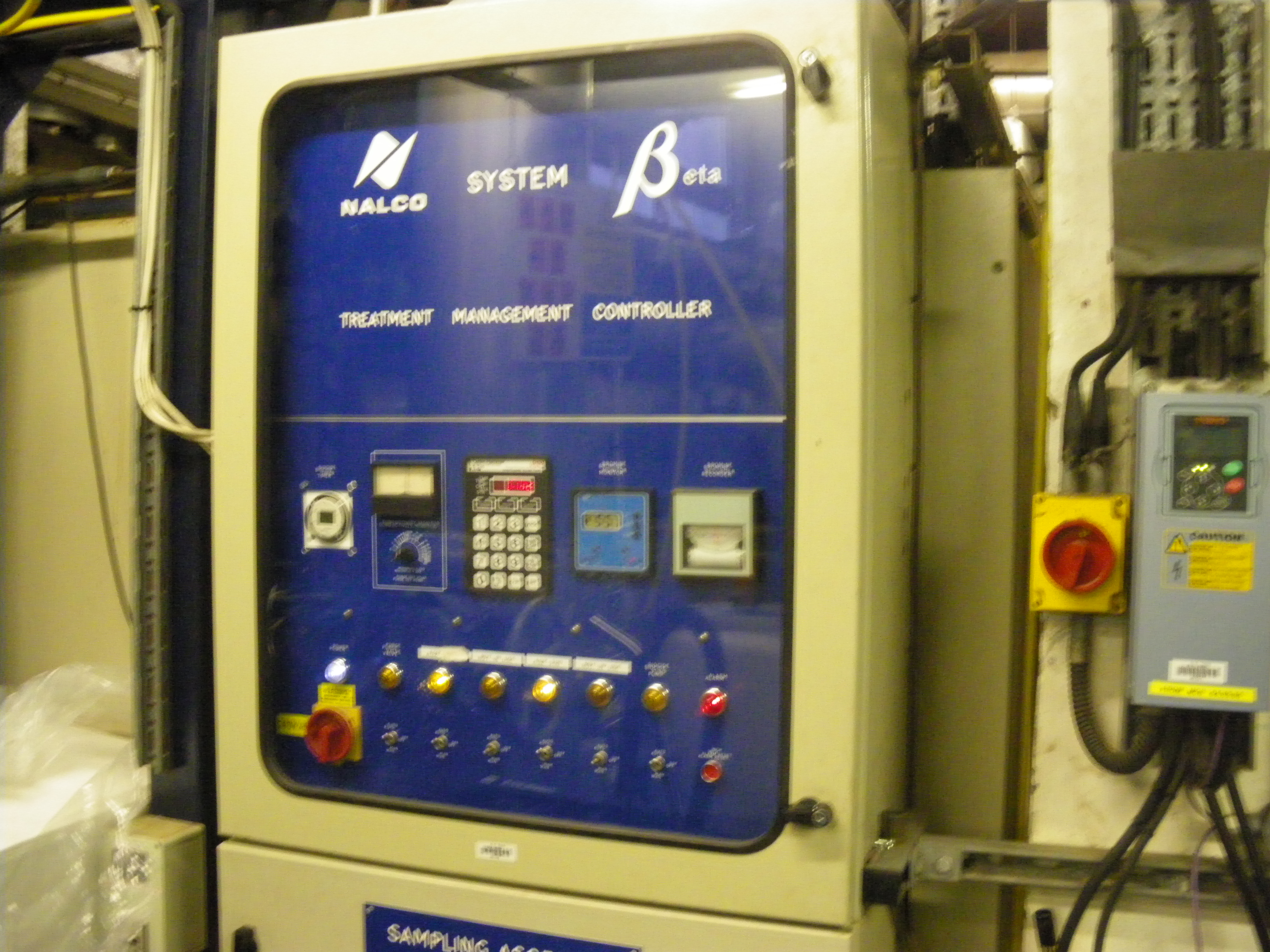 Nalco water treatment control panel