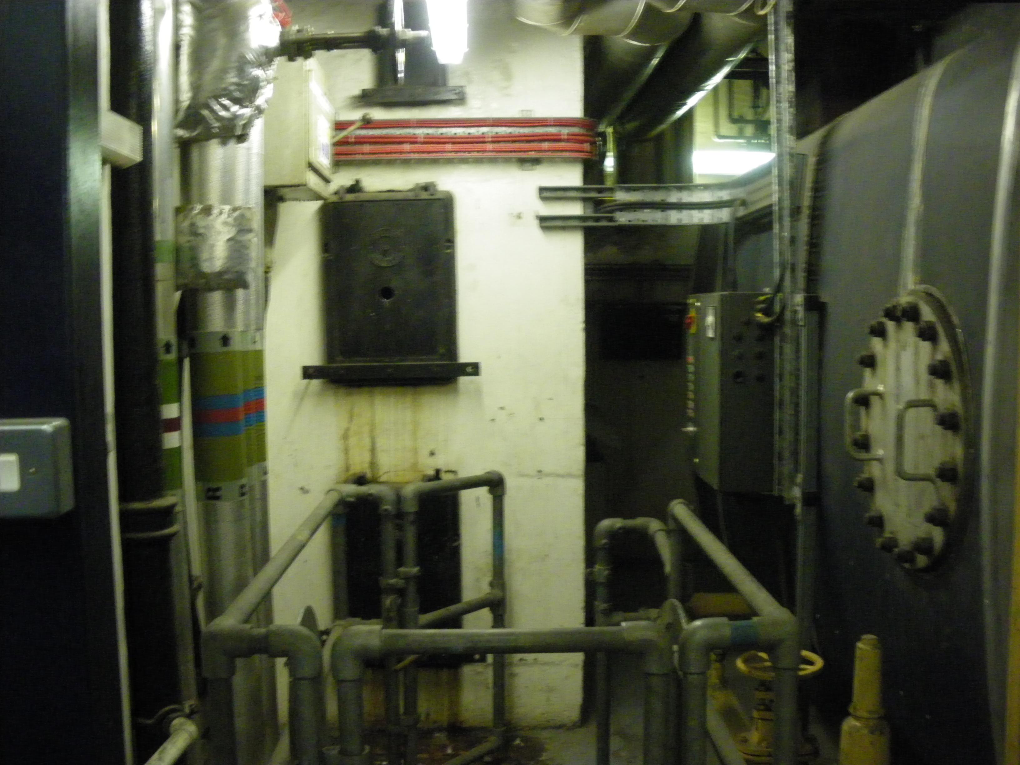 Boiler no. 1 and flues