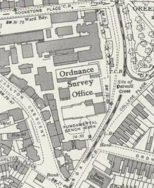 Map of London Road site in 1941