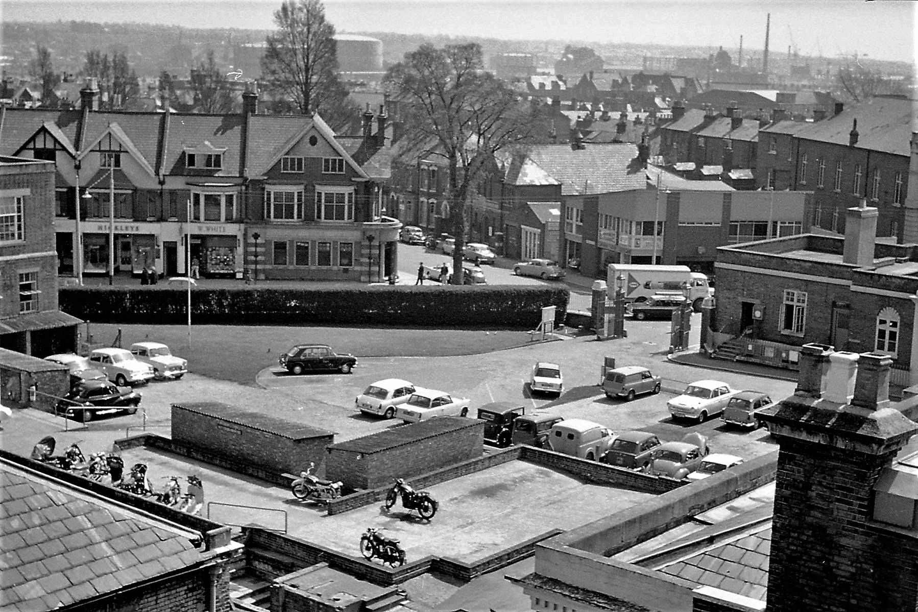View from the roof of London Road in 1967