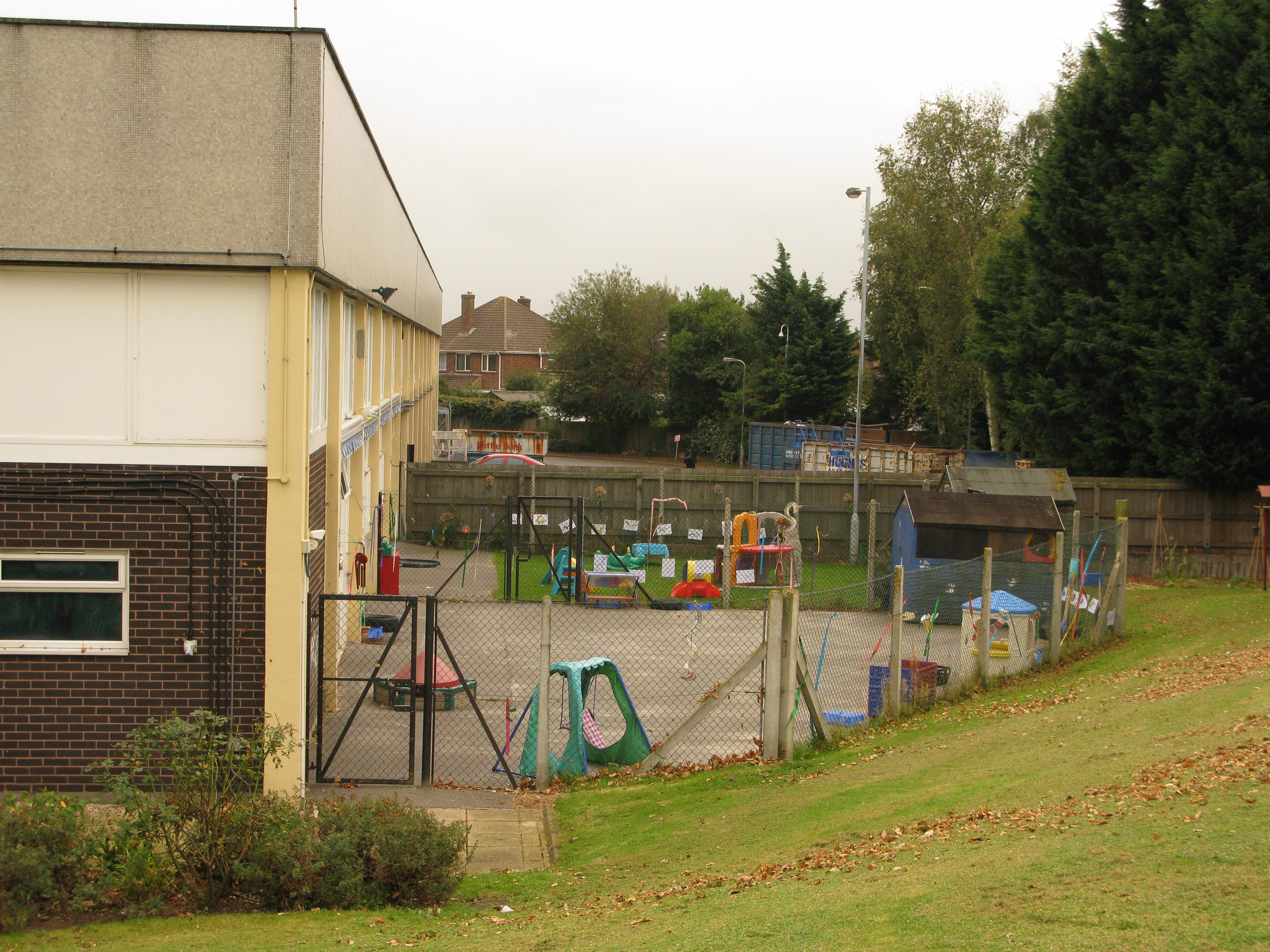 The nursery's playground area behind Services Block.