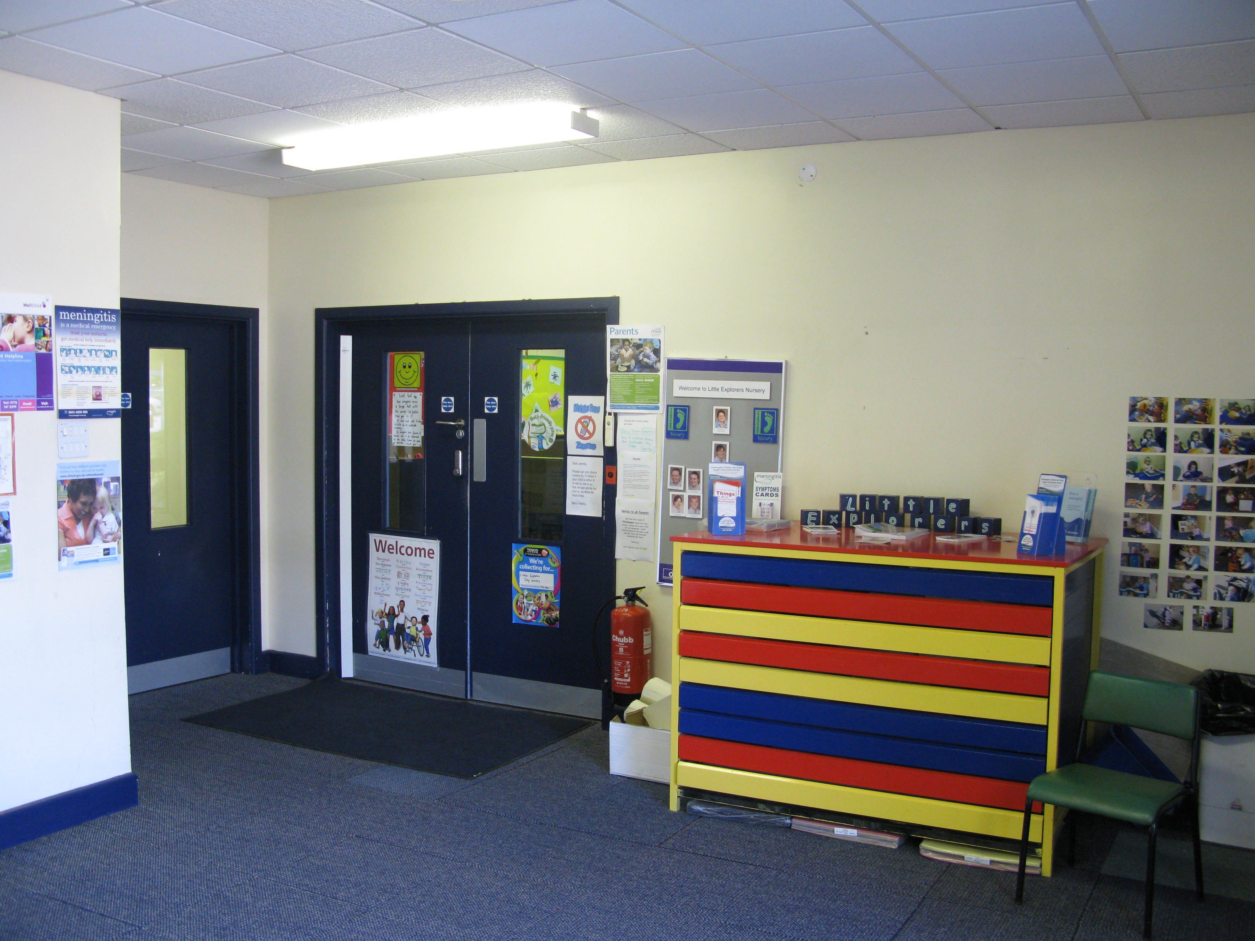 Services Block entrance to Little Explorers Nursery