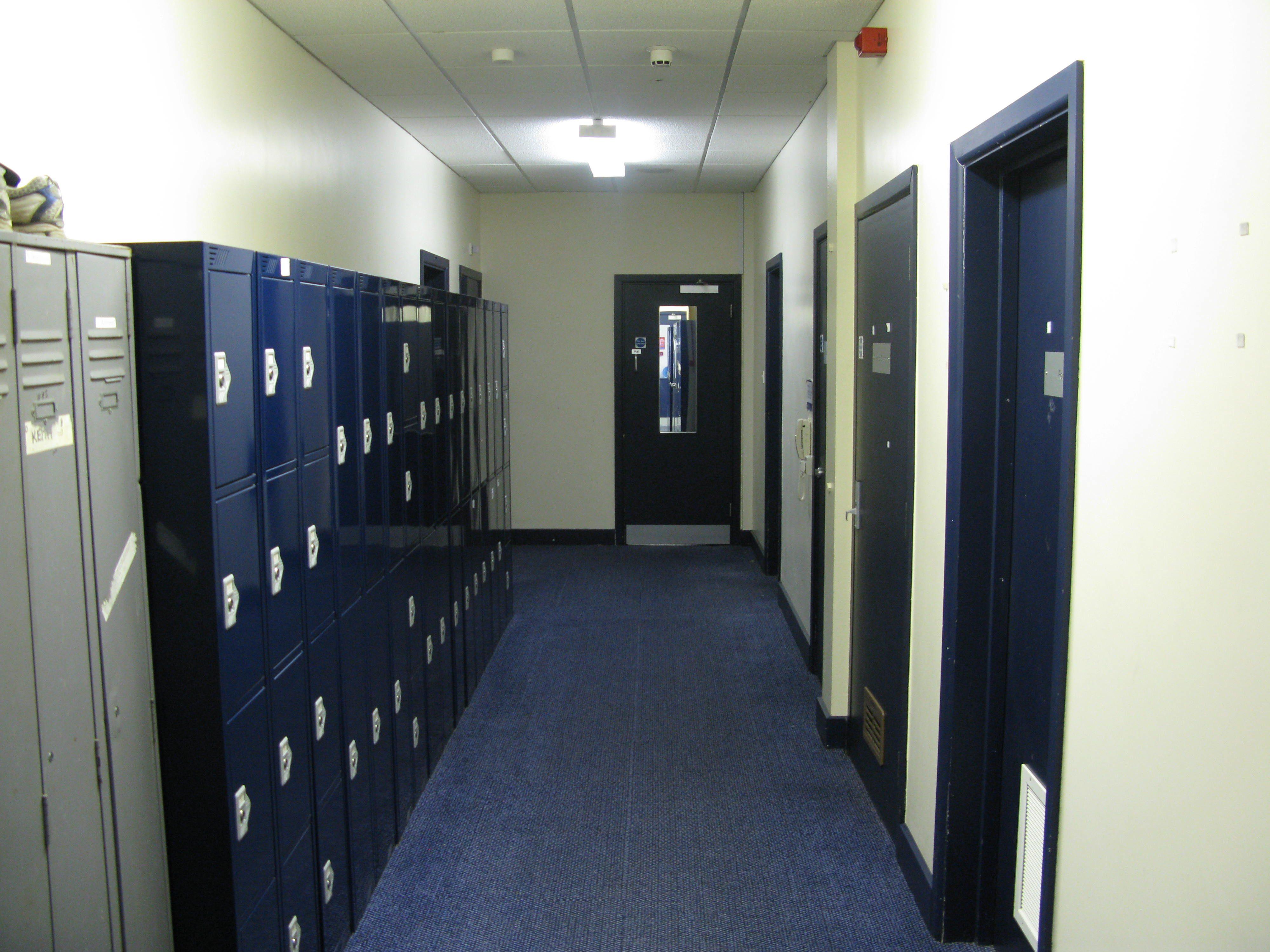 Lockers in Services Block