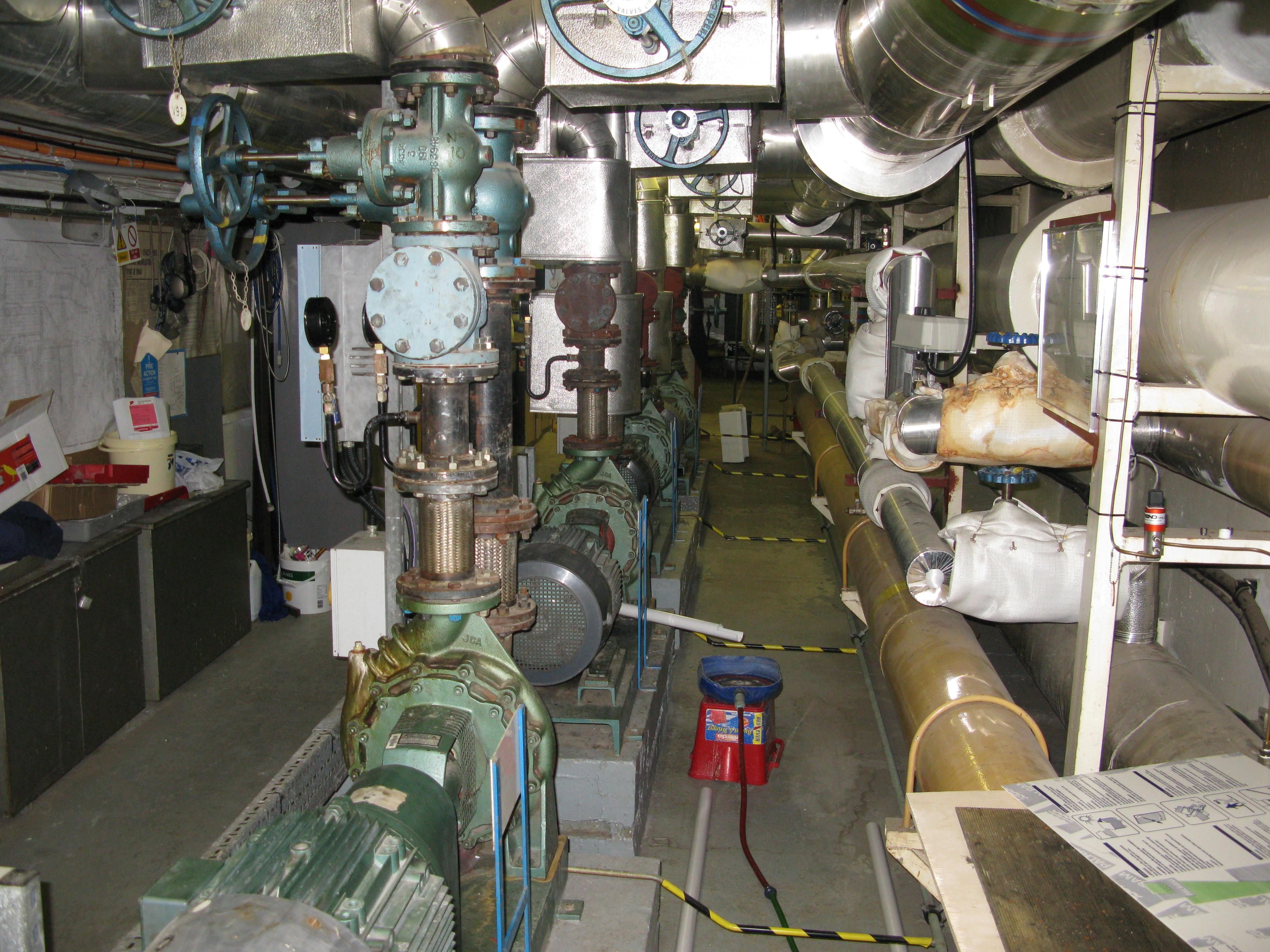 Boiler House main heating pumps,