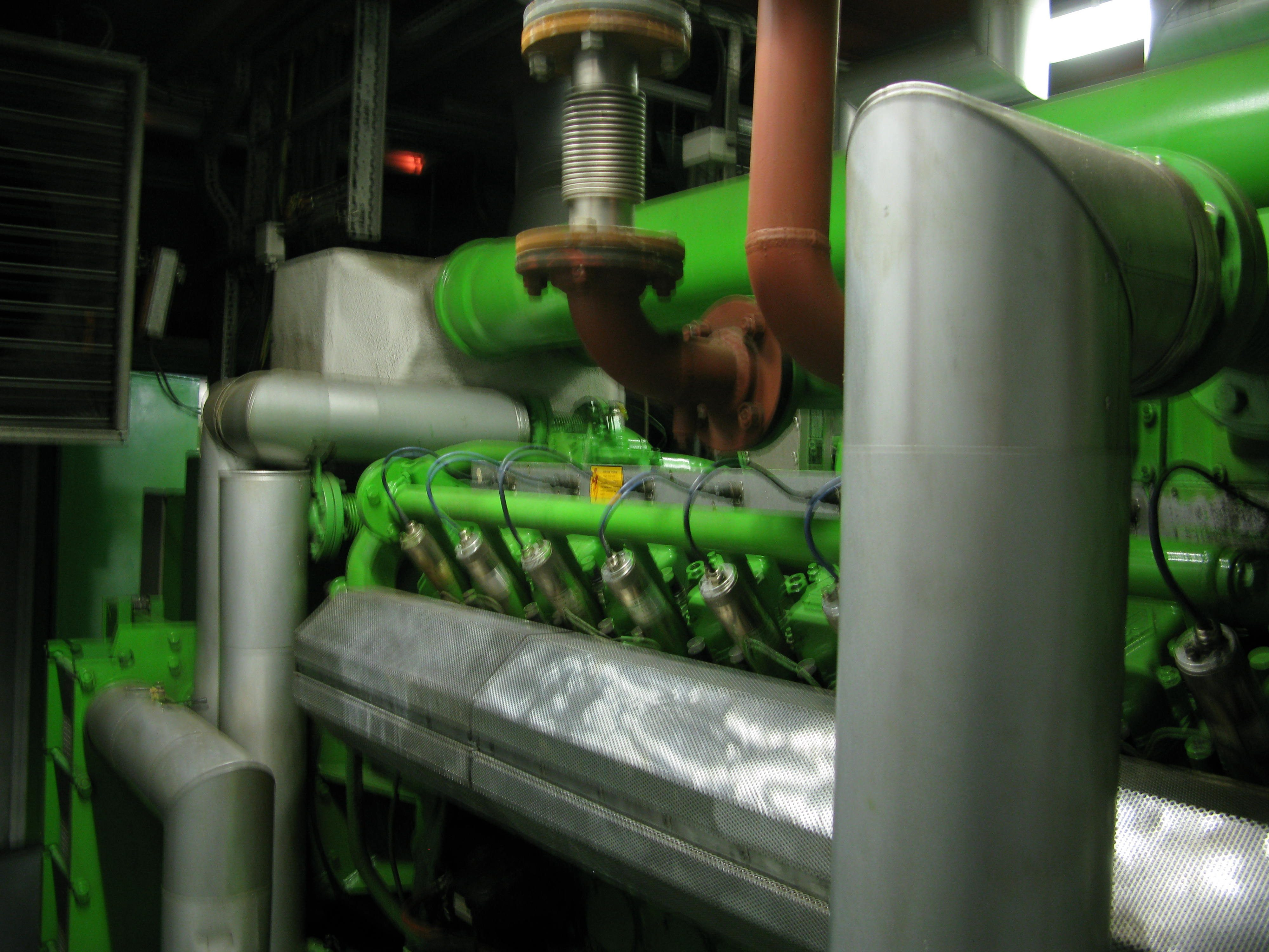 One of two Jenbacher CHP engines