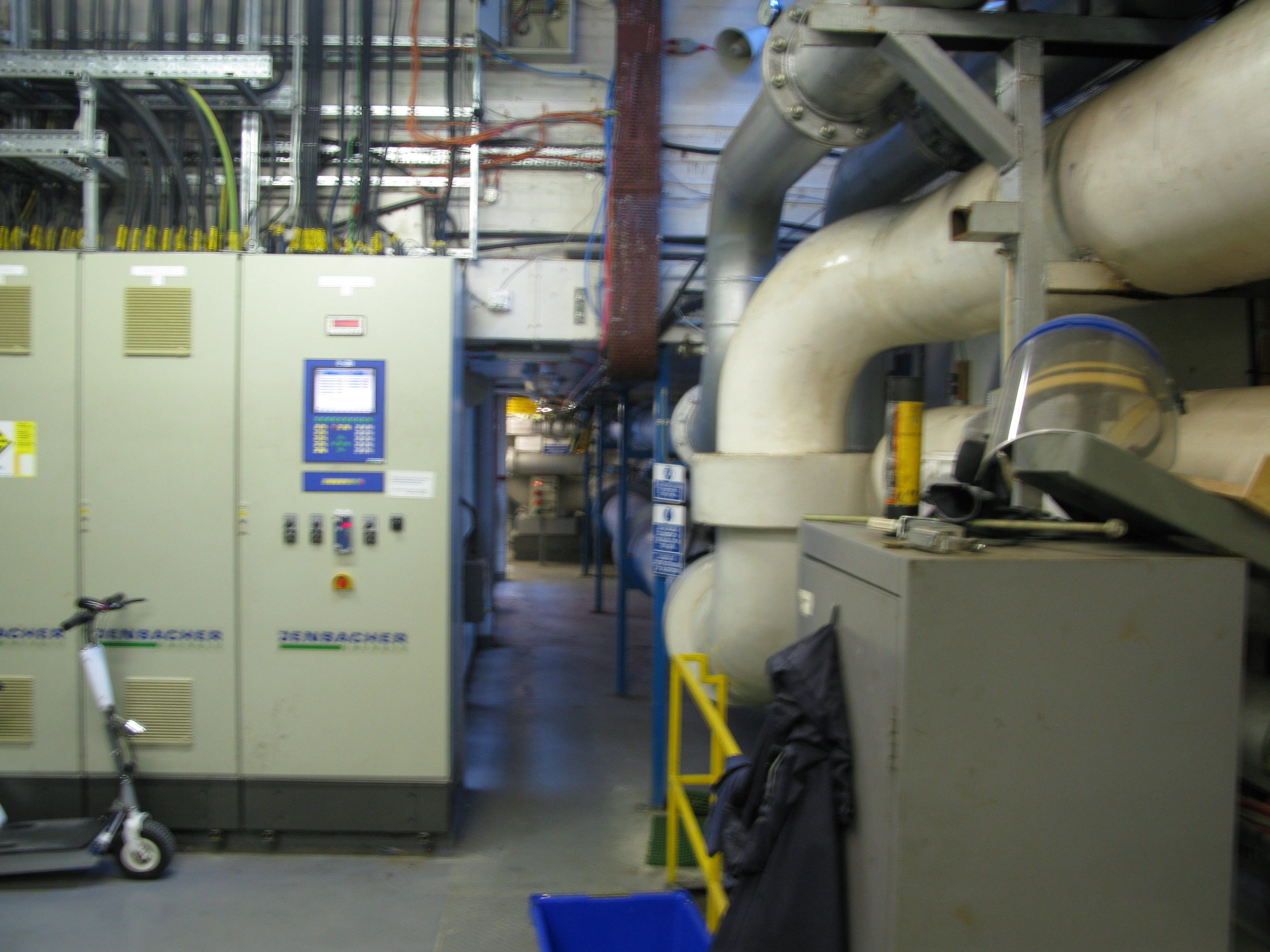 CHP control panels and Chilled Water mains