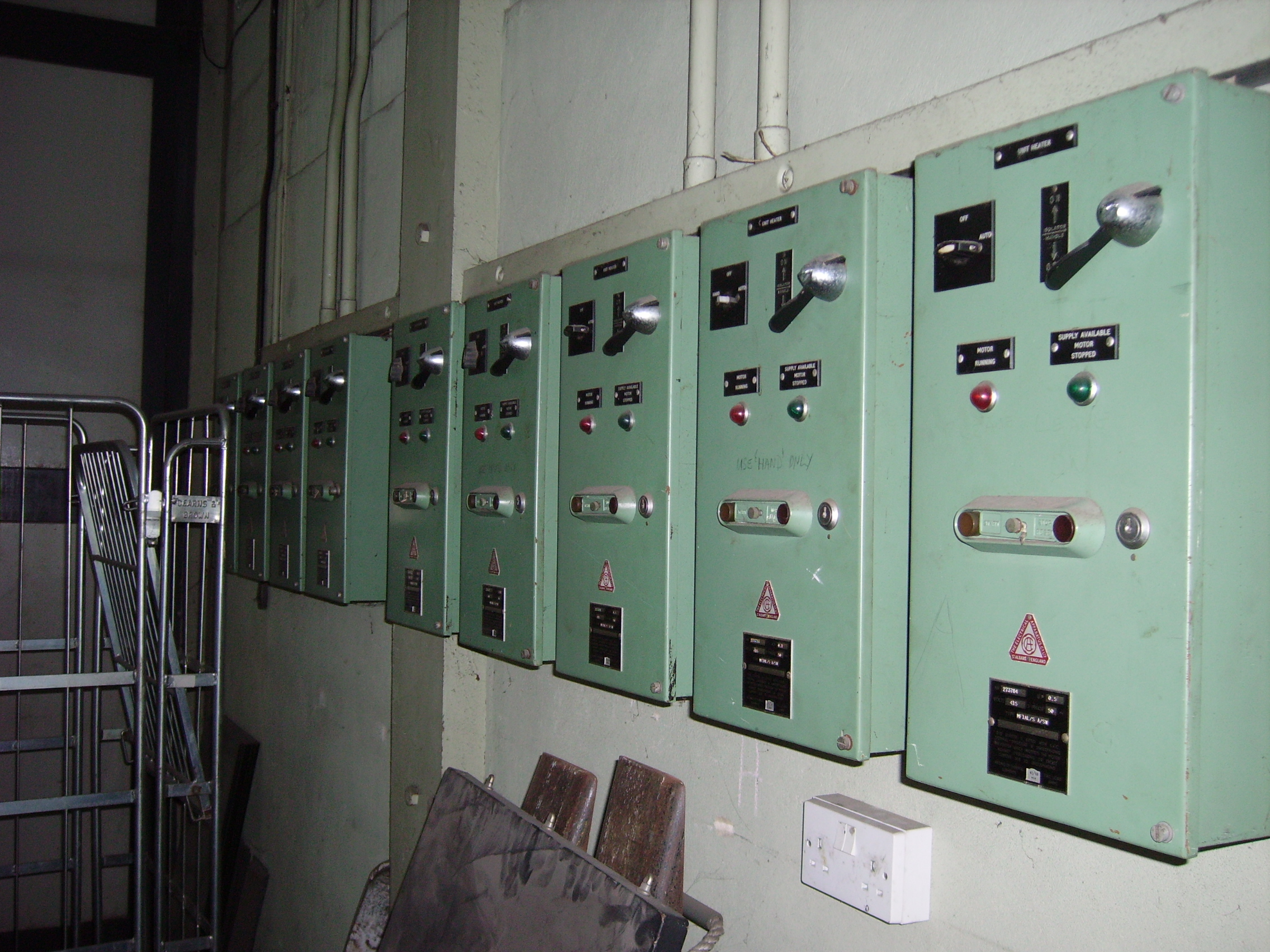 Unit heater controls in the Bilby Store