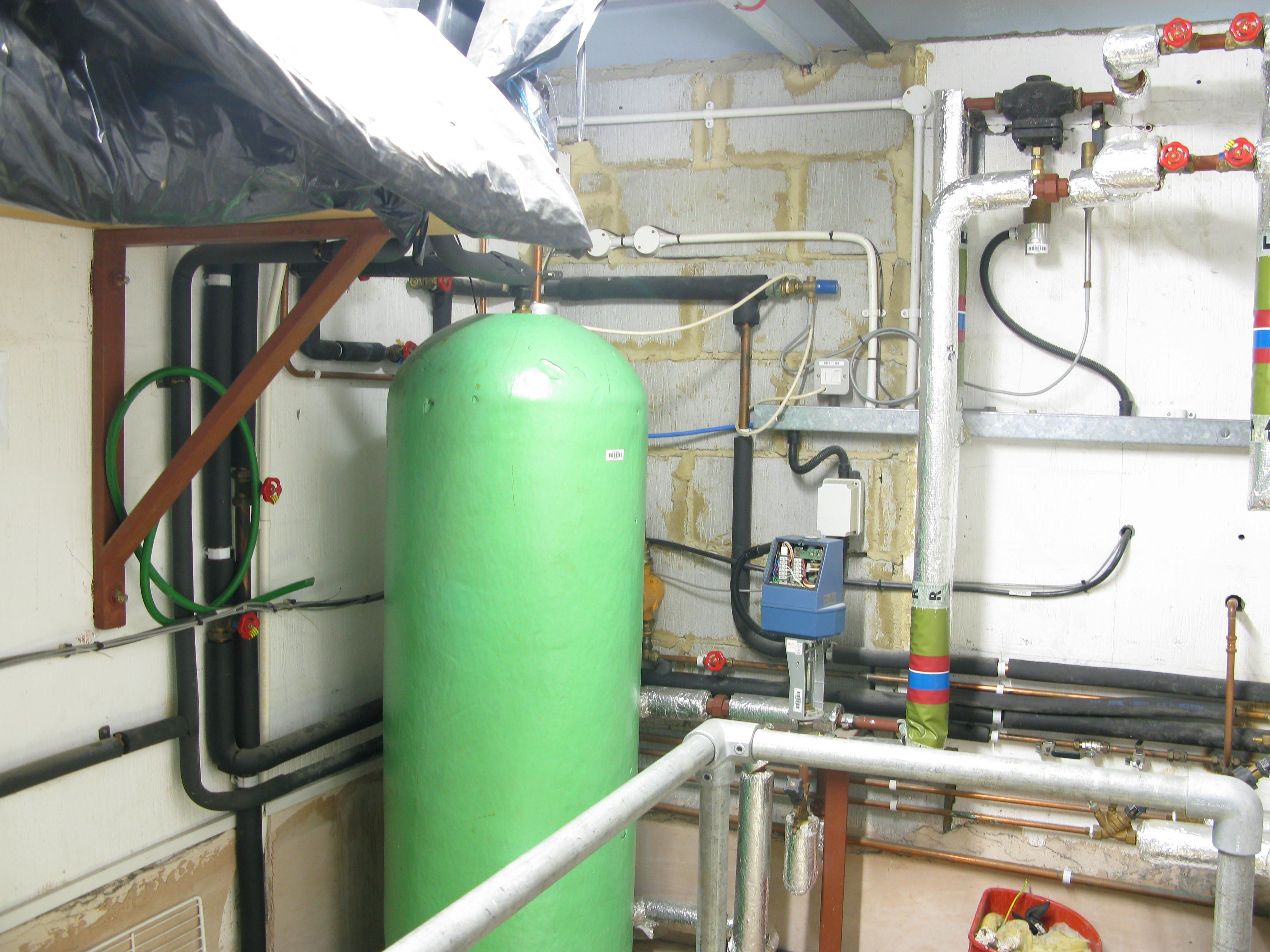 Services Block hot water calorifier