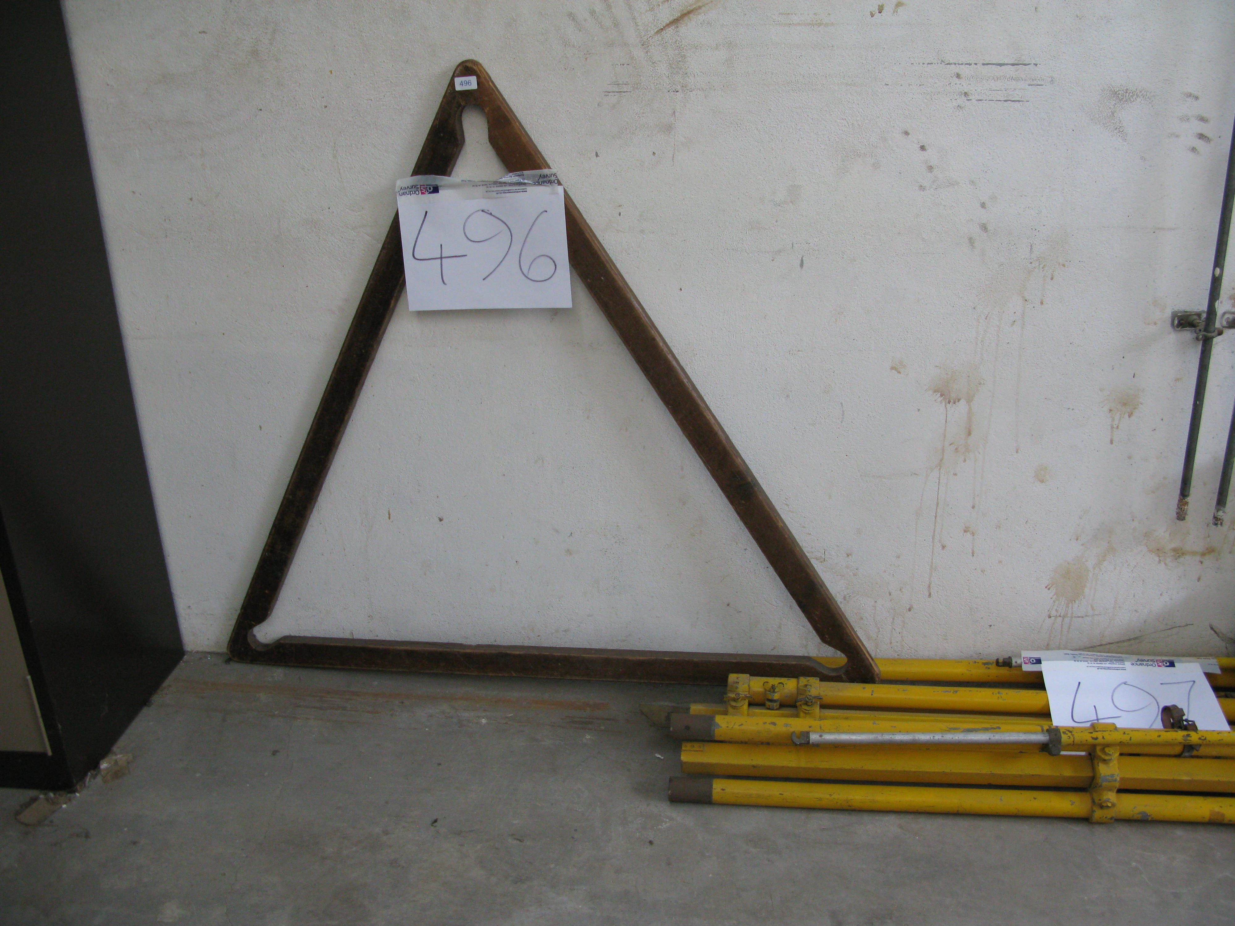 Old surveying equipment in Services Block
