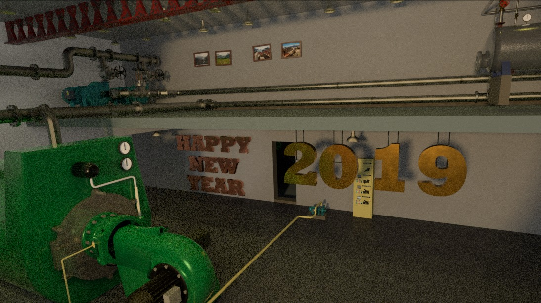 2019 new year image with materialiq textures but poor resolution render due to lack of time.