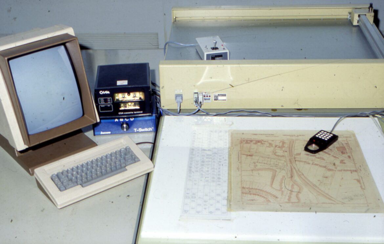 ICL PERQ2 digitising workstation